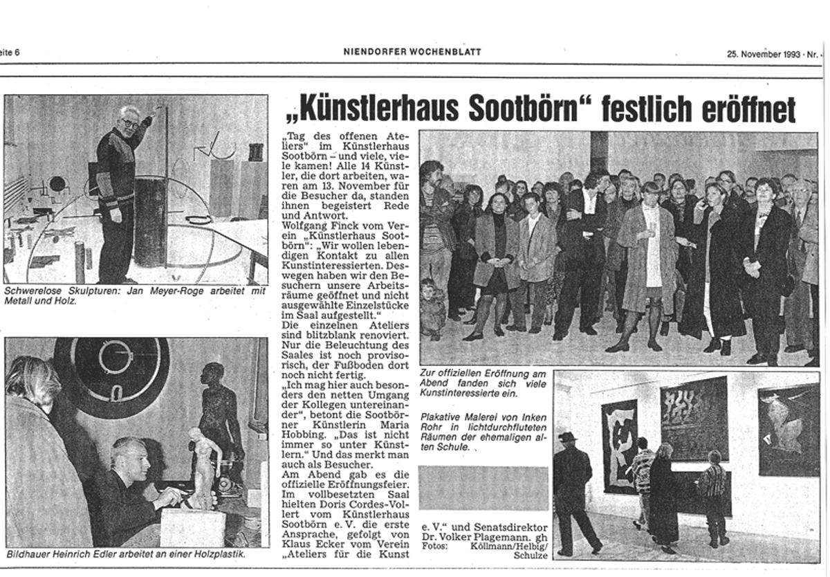 1993NovKünstlerhaus Sootbörn